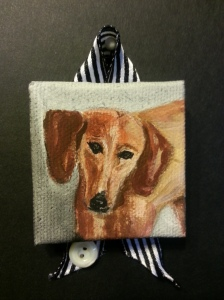 Dachund Portrait, Stephanie Macera