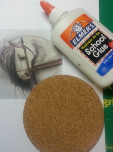 Supplies for making coasters.