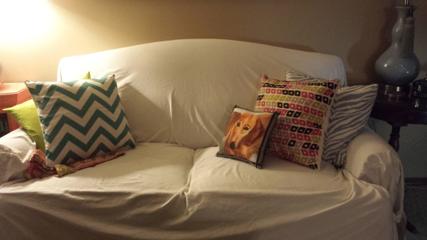 Spoonflower Dachund fabric, Stephanie Macera