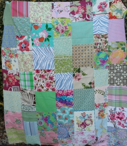 Large patchwork quilt top.