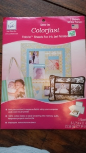 Sew-In Colorfast Fabric Sheets for Ink Jet Printers
