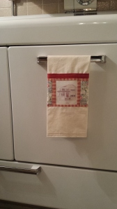 Personalized tea towel, S. Macera