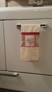 Personalized tea towel, S. Macera