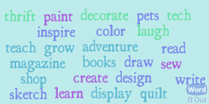 Loving Color Word Cloud