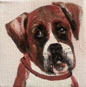 Pet portrait, acrylic, S. Macera, Lovingcolor.net