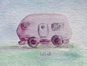 Let's Roll pink trailer, Stephanie Macera