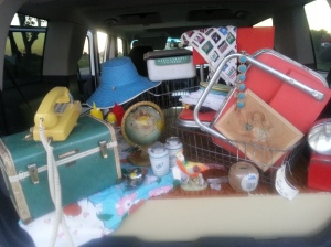 My most recent junker trip with my mom and dear friend. We pack a truck like nobody's business!