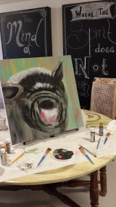 Pot belly pig, Stephanie Macera, www.lovingcolor.net