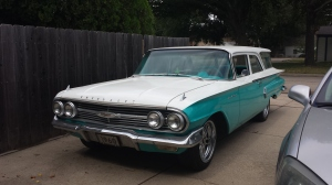 My super star - dad's 1960 Chevy for sale in the booth!