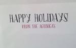 Christmas card, interior