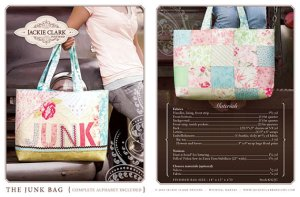Junk Bag pdf pattern by Jackie Clark Designs