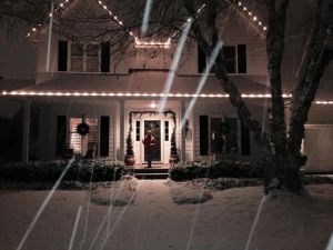 Client's house last winter during snow storm- perfect!
