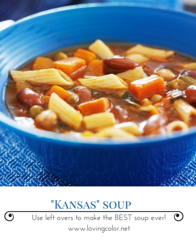 Kansas soup, leftover soup, Stephanie Macera. www.lovingcolor.net