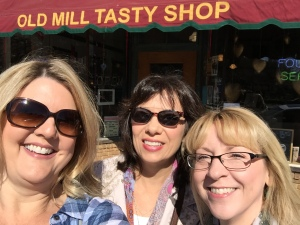 Beverly Bishop, Jackie Clark, Stephanie Macera at Old Mill Tasty Shop, Wichita, KS