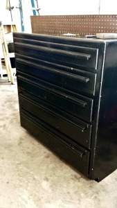 black. painted dresser before