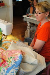 Machine quilting, S Macera 2016 at Whatever Craft House retreat with Jackie Clark