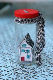Be original, tiny house in jar, Stephanie Macera, www.lovingcolor.net