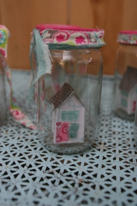 Fabric house in a jar